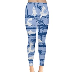 Blue Shark 2 Leggings  by CoolDesigns