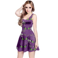 Purple Eyes Reversible Sleeveless Dress by CoolDesigns