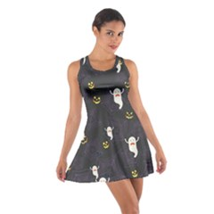 Gray Halloween Cotton Racerback Dress