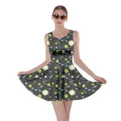 Space Green Skater Dress by CoolDesigns