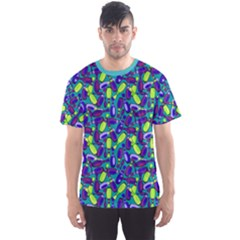 Teal Bowling Pattern Men s Sport Mesh Tee  by CoolDesigns