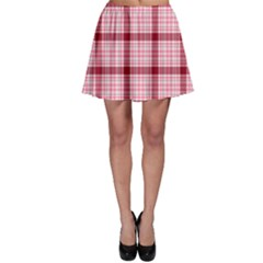 Red Tartan Plaid Pattern Skater Skirt by CoolDesigns
