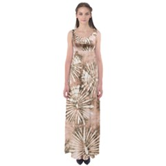 Beige Tie Dye 2 Empire Waist Maxi Dress by CoolDesigns