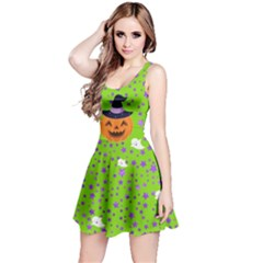 Green Pumpkin Reversible Sleeveless Dress