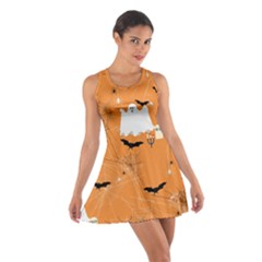 Orange Ghost Cotton Racerback Dress by CoolDesigns