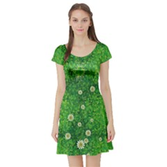 Shamrock Full Short Sleeve Skater Dress