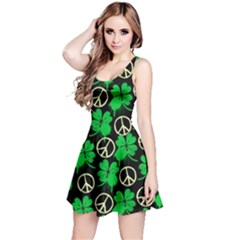 Shamrock Peace Reversible Sleeveless Dress by CoolDesigns