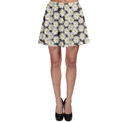 Colorful Daisies Pattern Skater Skirt by CoolDesigns