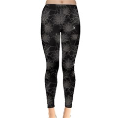 Black Web Spiders Pattern Leggings