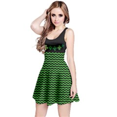 Shamrock Zigzag Reversible Sleeveless Dress