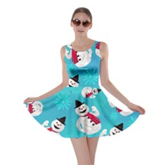 Snowman Blue Skater Dress by CoolDesigns