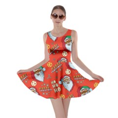 Red   Orange Santa Skater Dress