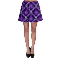 Purple Plaid Skater Skirt by CoolDesigns