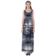 Navy Tie Dye Empire Waist Maxi Dress by CoolDesigns