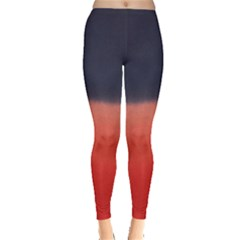 Navy Red Tie Dye Leggings