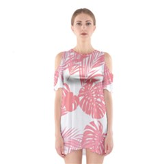 Pink Palm Tree Cutout Shoulder One Piece by CoolDesigns
