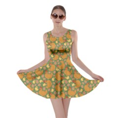 Green Chicken Flat Pattern Skater Dress by CoolDesigns