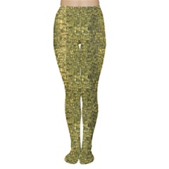 Green Leather Animal Snake Reptile Crocodile Pattern Women s Tights by CoolDesigns