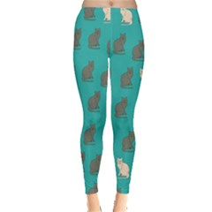 Turquoise Cat Leggings