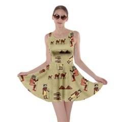 Egypt Cat Retro Skater Dress by CoolDesigns