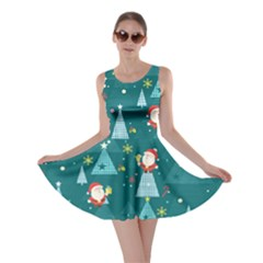 Turquoise Santa Skater Dress by CoolDesigns
