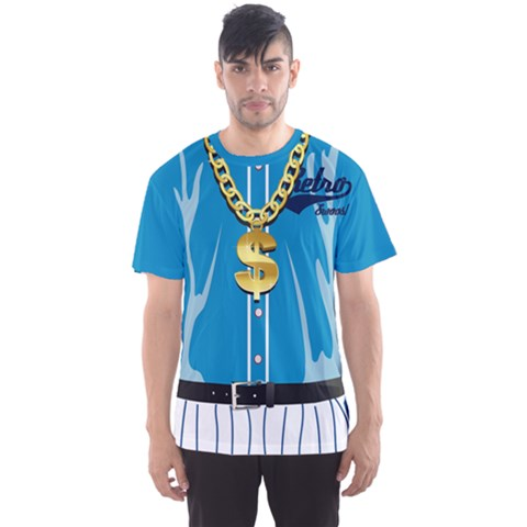 Faux Hiphop Blue Men s Sport Mesh Tee by CoolDesigns
