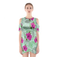 Green Hawaii Cutout Shoulder One Piece by CoolDesigns