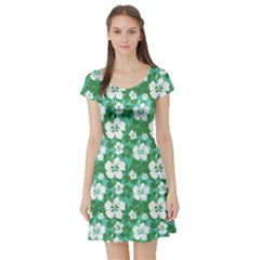 Green Magic Short Sleeve Skater Dress by CoolDesigns