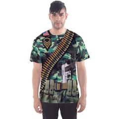 Faux Camouflage Military Men s Sport Mesh Tee by CoolDesigns