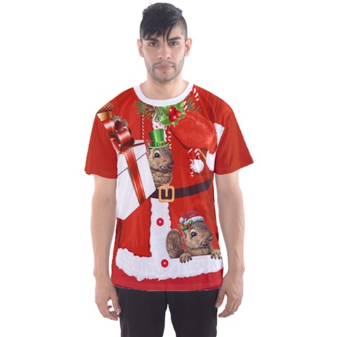 Faux Christmas Santa Men s Sport Mesh Tee by CoolDesigns