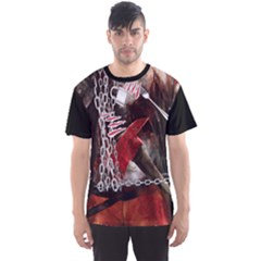 Faux Halloween Killer 2 Men s Sport Mesh Tee by CoolDesigns