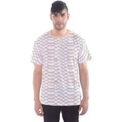 Nude Snake Skin Texture Pattern White Men s Sport Mesh Tee by CoolDesigns