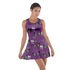 Purple Eyes Cotton Racerback Dress by CoolDesigns