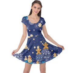 Navy Stars Cap Sleeve Dress by CoolDesigns