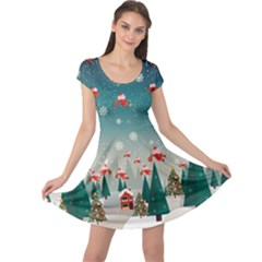 Xmas Town Cap Sleeve Dress