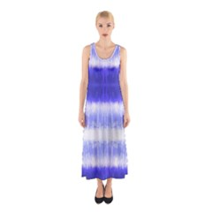 Blue Tie Dye Sleeveless Maxi Dress by CoolDesigns