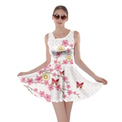 White Blossom Skater Dress