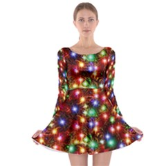 Xmas Lights Long Sleeve Skater Dress by CoolDesigns