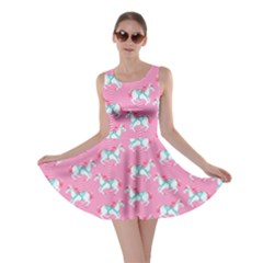 Pink Carousel Horses Pattern Skater Dress