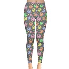 Watercolor Rabbits Leggings  by CoolDesigns