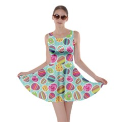 Colorful Easter Eggs Pattern Skater Dress by CoolDesigns