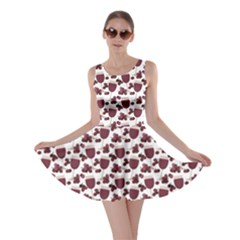 Purple Pattern With Wine Glasses Skater Dress by CoolDesigns