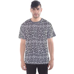 Gray Python Snakeskin Pattern In Greys Repeats Men s Sport Mesh Tee by CoolDesigns