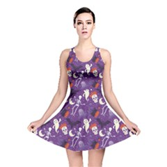 Colorful Halloween Cute Pattern Reversible Skater Dress by CoolDesigns