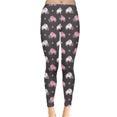 Pink Elephants Pattern Leggings by CoolDesigns