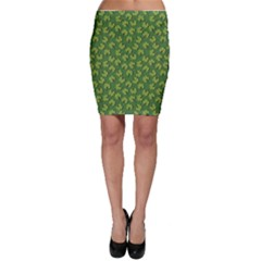 Green Clover Pattern For St Patricks Day Bodycon Skirt by CoolDesigns