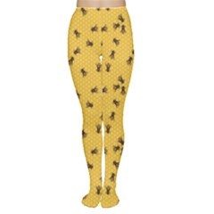 Yellow Pattern Of The Bee On Honeycombs Women s Tights by CoolDesigns