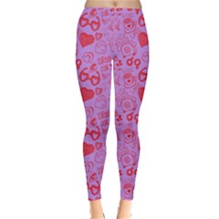 Love Doodle 3 Leggings  by CoolDesigns