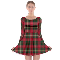Xmas Check Long Sleeve Skater Dress by CoolDesigns
