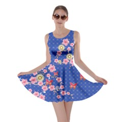 Blue Blossom Skater Dress by CoolDesigns